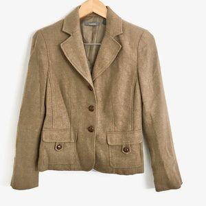 Liz Claiborne Wool Blend Button Blazer H0009